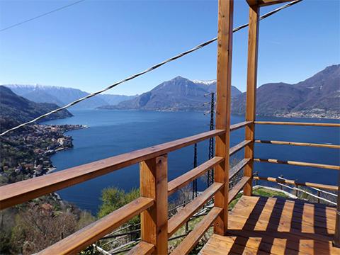 Bild von Ferienhaus am Comersee Collina_Bellano_10_Balkon