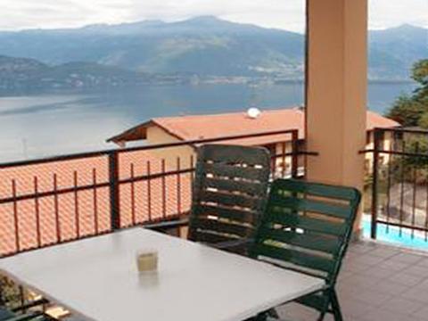 Bild von Ferienhaus am Comersee Nina_569_Pino_10_Balkon