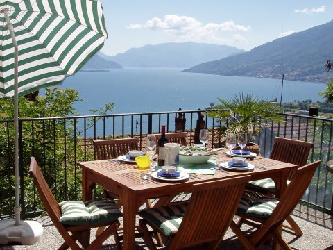 Picture of Lake Como apartment Rosato_Gravedona_10_Balkon