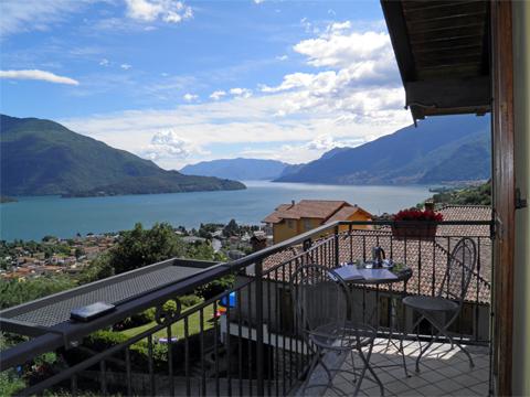 Bild von ferienhaus am Comersee Panorama_Vercana_10_Balkon