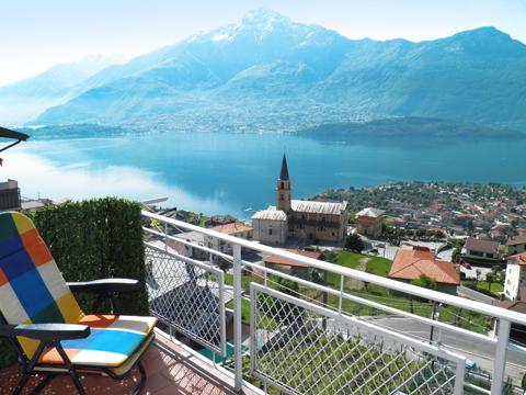 Bild von ferienhaus am Comersee Vista_Vercana_10_Balkon